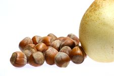 Free Hazelnuts And Pear Stock Image - 1853211