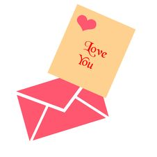 Valentine Love Note Stock Image