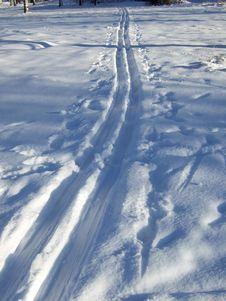 Ski-track Royalty Free Stock Image