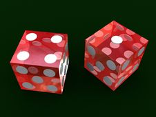 Free Red Dice Royalty Free Stock Photos - 1854308