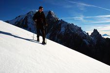 Free Trekker Mont Blanc 1 Stock Images - 1854514