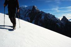Free Trekker Mont Blanc 2 Royalty Free Stock Images - 1854519