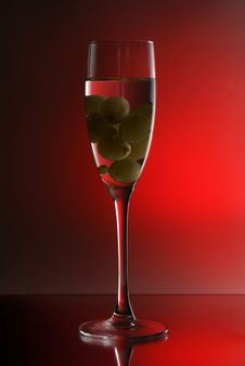 Free Grapes In The Glass Stock Images - 1854794