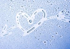 H2O Hearts Royalty Free Stock Photography
