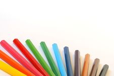 Free Color Pencils Composition Royalty Free Stock Images - 1855519