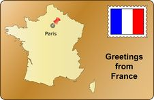 Free Greetings From France Royalty Free Stock Photos - 1855928