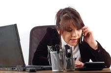 Free Businesswoman At Desk 15 Royalty Free Stock Photography - 1856137