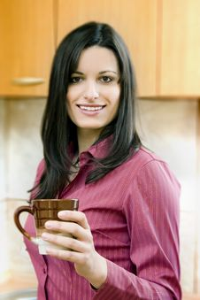 Free Businesswoman Having Coffee-break Stock Image - 1856561