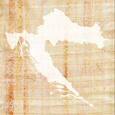 Free Croatia On Papyrus Royalty Free Stock Photography - 1857297