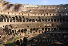 Inside Of Colosseum Royalty Free Stock Image