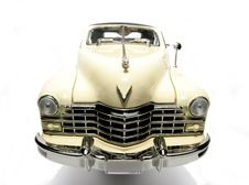1947 Cadillac Metal Scale Toy Car Fisheye Frontview Royalty Free Stock Photography