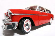 Chevrolet 1955 Metal Scale Toy Car Fisheye 2 Stock Image