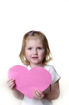 Free Little Girl With Valentine Stock Image - 1858321