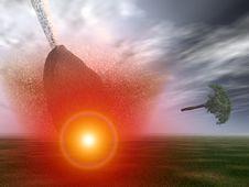 Free Meteor Strike 18 Royalty Free Stock Photo - 1858525