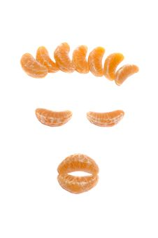 Free Mandarine Face Royalty Free Stock Photography - 1858817