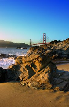 Baker Beach, San Francisco Stock Photo