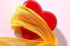 Free Red Heart And Ribbon Stock Photos - 1859553