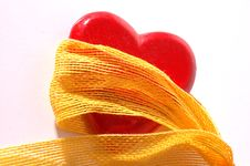 Free Red Heart And Ribbon Stock Photos - 1859593