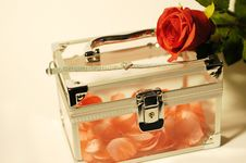 Free Pink Petals Rose Jewelry Box Stock Photography - 1859652
