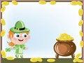 Free Leprechaun With A Gold Pot Stock Photo - 18506580