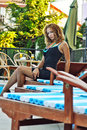 Free The Young Woman Near Pool Royalty Free Stock Photography - 18508147
