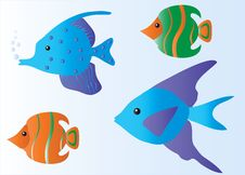 Free Tropical Fish Cartoon Royalty Free Stock Image - 18500096