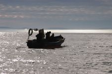 Free Fishermen In Their Boat Stock Photography - 18500682