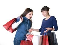 Free Two Girls With Bags Stock Photos - 18500863