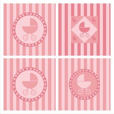Cute Baby Arrival Backgrounds Royalty Free Stock Image