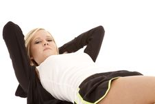 Free Woman Crunch Body View Royalty Free Stock Photo - 18501055