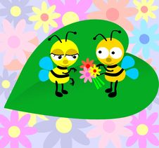 Free Loving  Bees2 Royalty Free Stock Image - 18501296