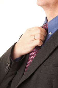 Free Businessman Adjusting His Tie Stock Photo - 18501690