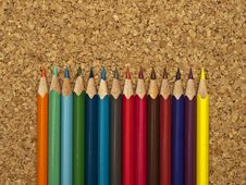 Free Colored Pencils Royalty Free Stock Photography - 18502597
