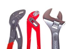Free Alligator Wrench And Adjustable Spanner Stock Photography - 18502642