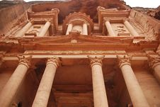 Free The Treasury Building In Petra Stock Photography - 18502902