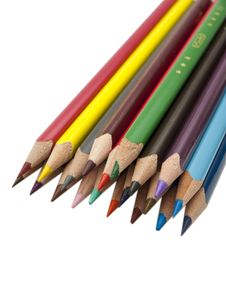 Free Colored Pencils Royalty Free Stock Photos - 18503188
