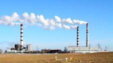 Free Smoking Power Station Chimneys Stock Image - 18504381