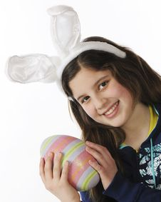 Free Tween Easter Bunny Stock Photography - 18504412