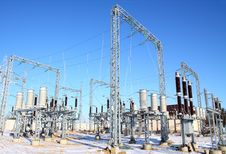 Free Disconnecting Switch On High-voltage Substation Stock Photography - 18504462