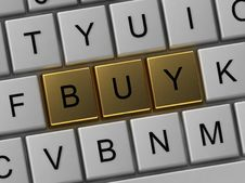 Button On The Keyboard Buy Stock Images