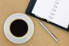 Free Coffee And Book On Table Royalty Free Stock Photo - 18505565