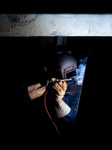 Free Welder At Work Stock Images - 18506024
