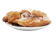 Smoked Chicken In A Dish Stock Images