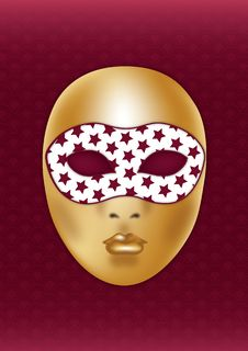 Free Golden Mask Royalty Free Stock Photos - 18506238