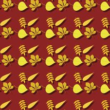 Free Seamless Background With Autumn Leaves Stock Photos - 18506423