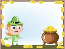 Free Leprechaun With A Gold Pot Stock Photo - 18506580