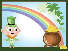 Free Leprechaun With A Gold Pot Royalty Free Stock Photo - 18506685