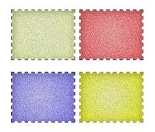 Free Set Of Empty Post Stamps On A White Stock Photo - 18506800