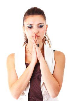 Free Beautiful Prayerful Woman. Stock Photo - 18506840