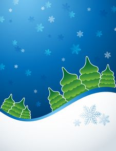 Free Blue Green Snowflakes Background Royalty Free Stock Images - 18506949